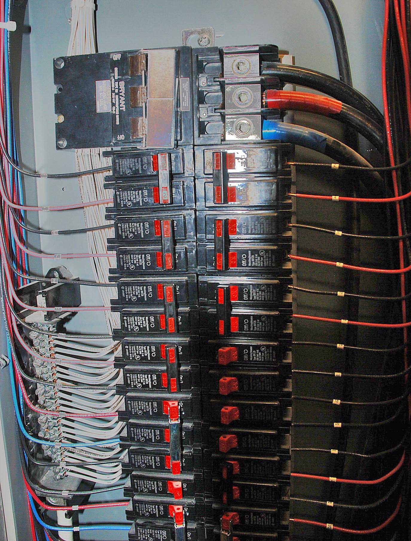 Photo of open Electrical Panel for commercial establishment