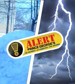 Image of Snow and Thunder - Alert Prince George's
