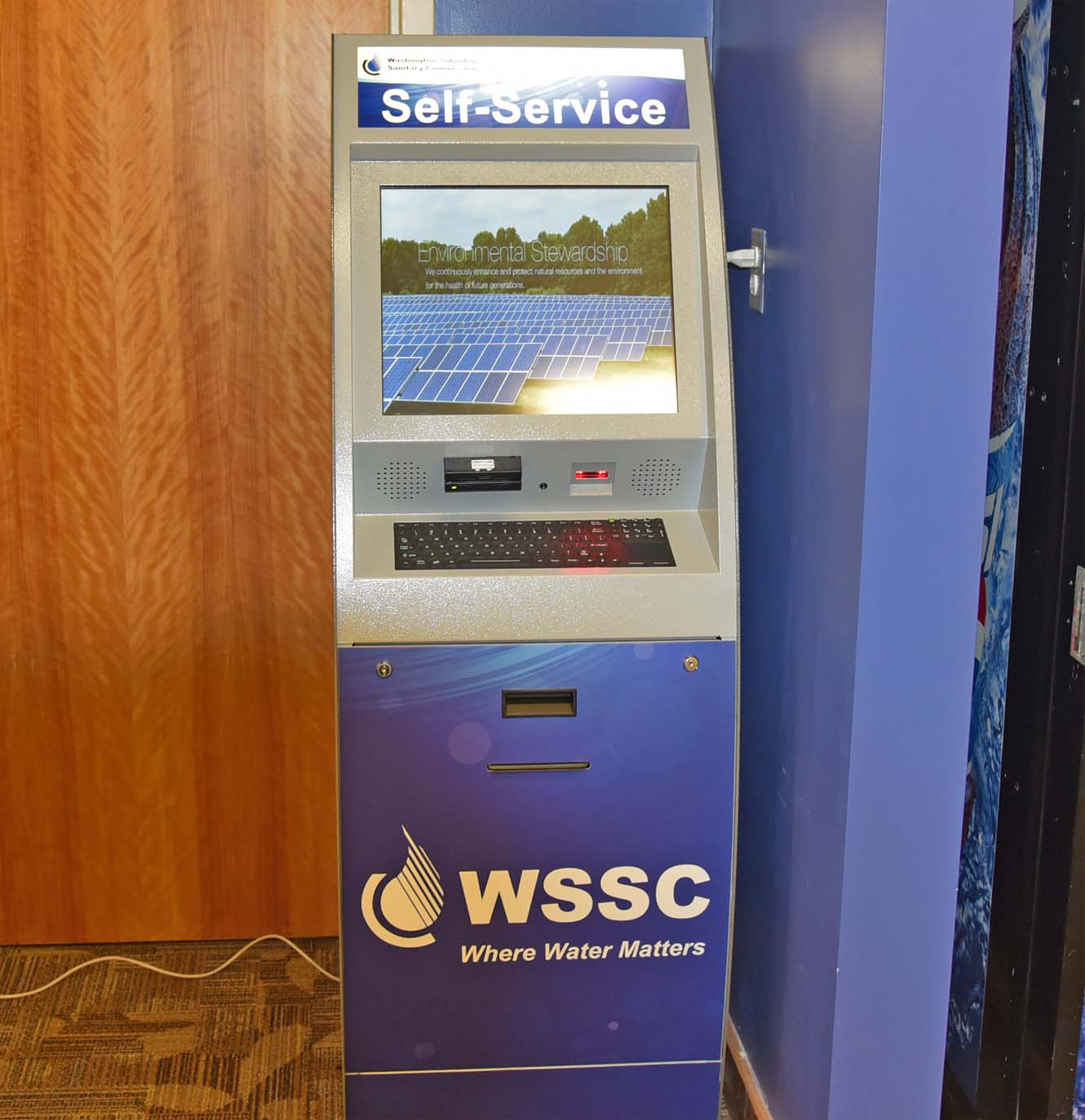 WSSC Kiosk for payment and permit inquiries