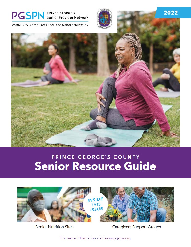 2019 Prince Georges Senior Resource Guide - Cover
