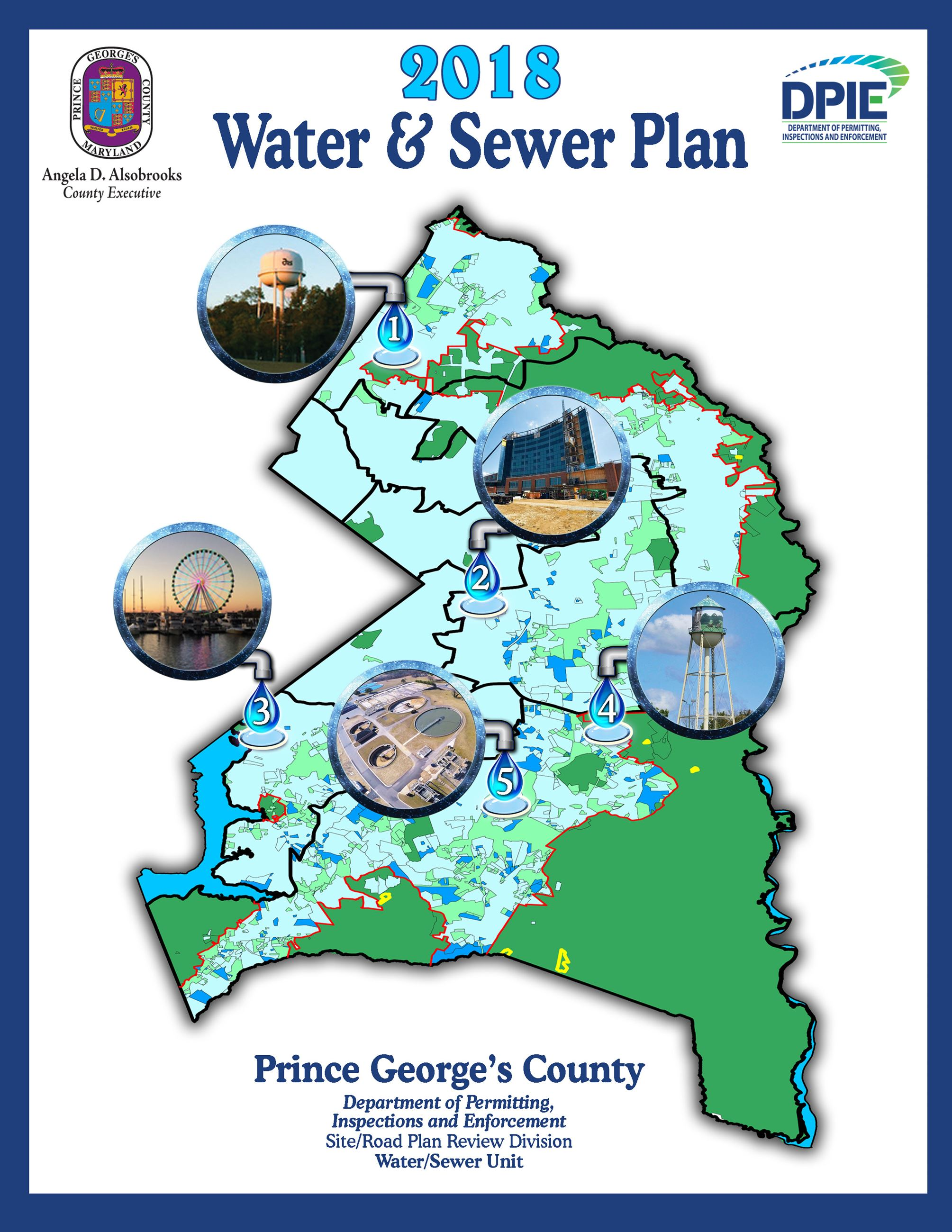 2018 Water and Sewer Plan Cover, adopted 2019