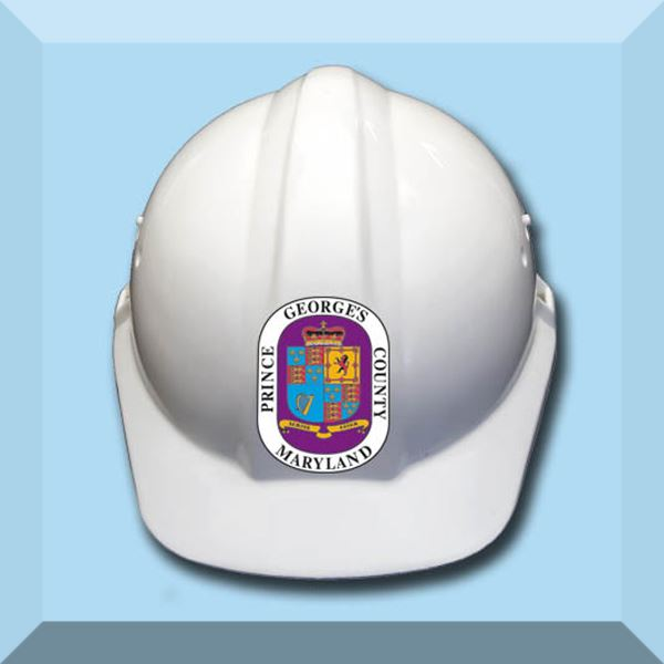 Inspections Hard Hat with County Seal