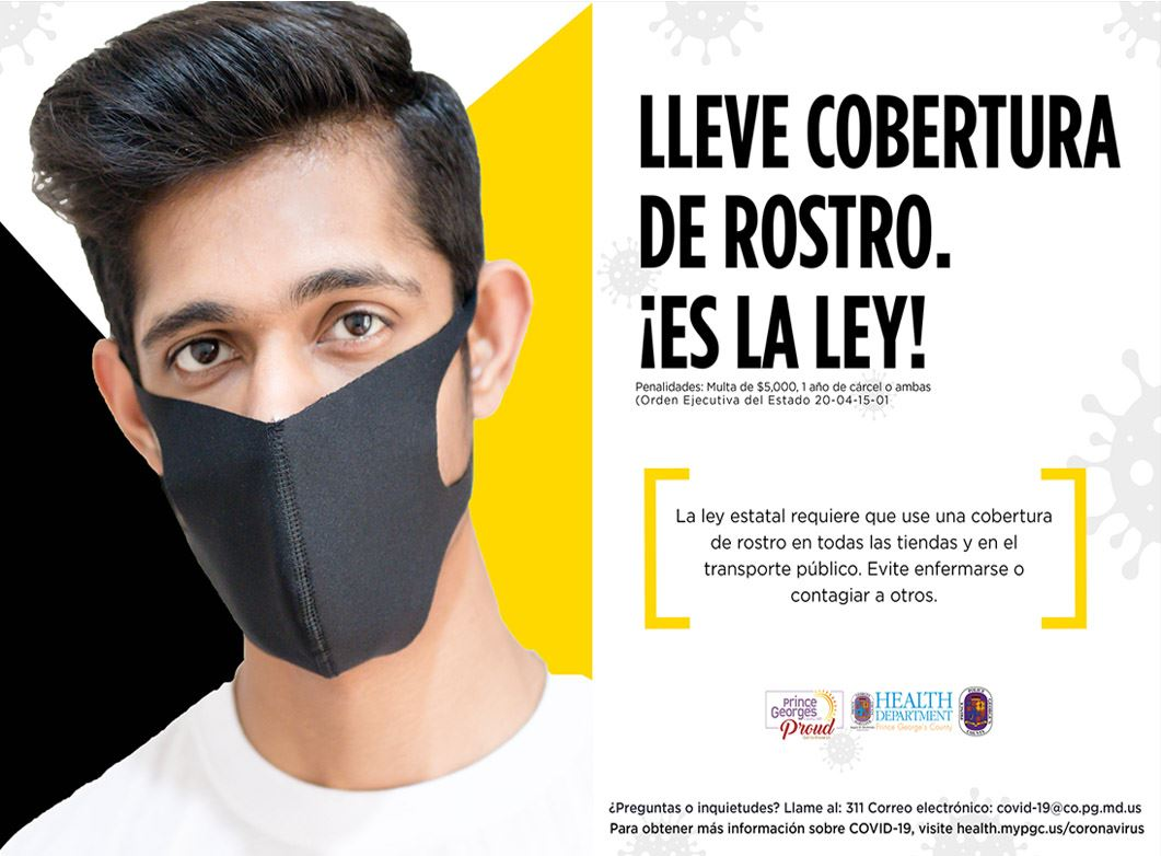Face Covers Save Lives - Spanish