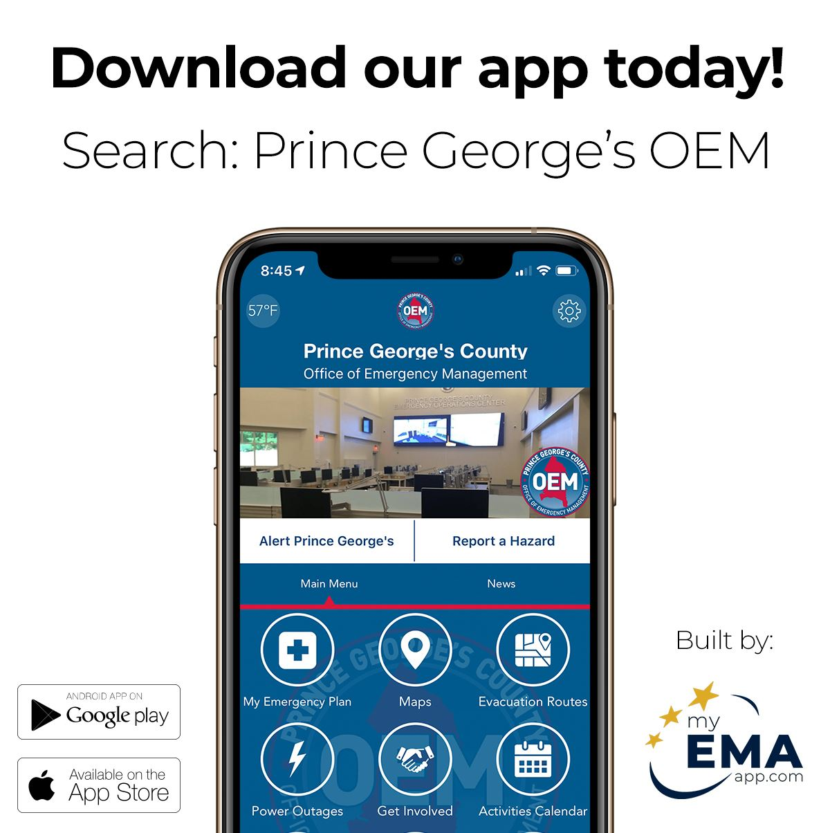 Download our App Today! Search: Prince George's OEM