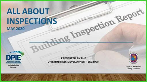 All About Inspections, photo of Inspection sheet on clipboard