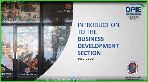 Introduction to the Business Development Section, photo of collage of businesses