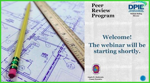 Peer Review Program, photo of architectural plans