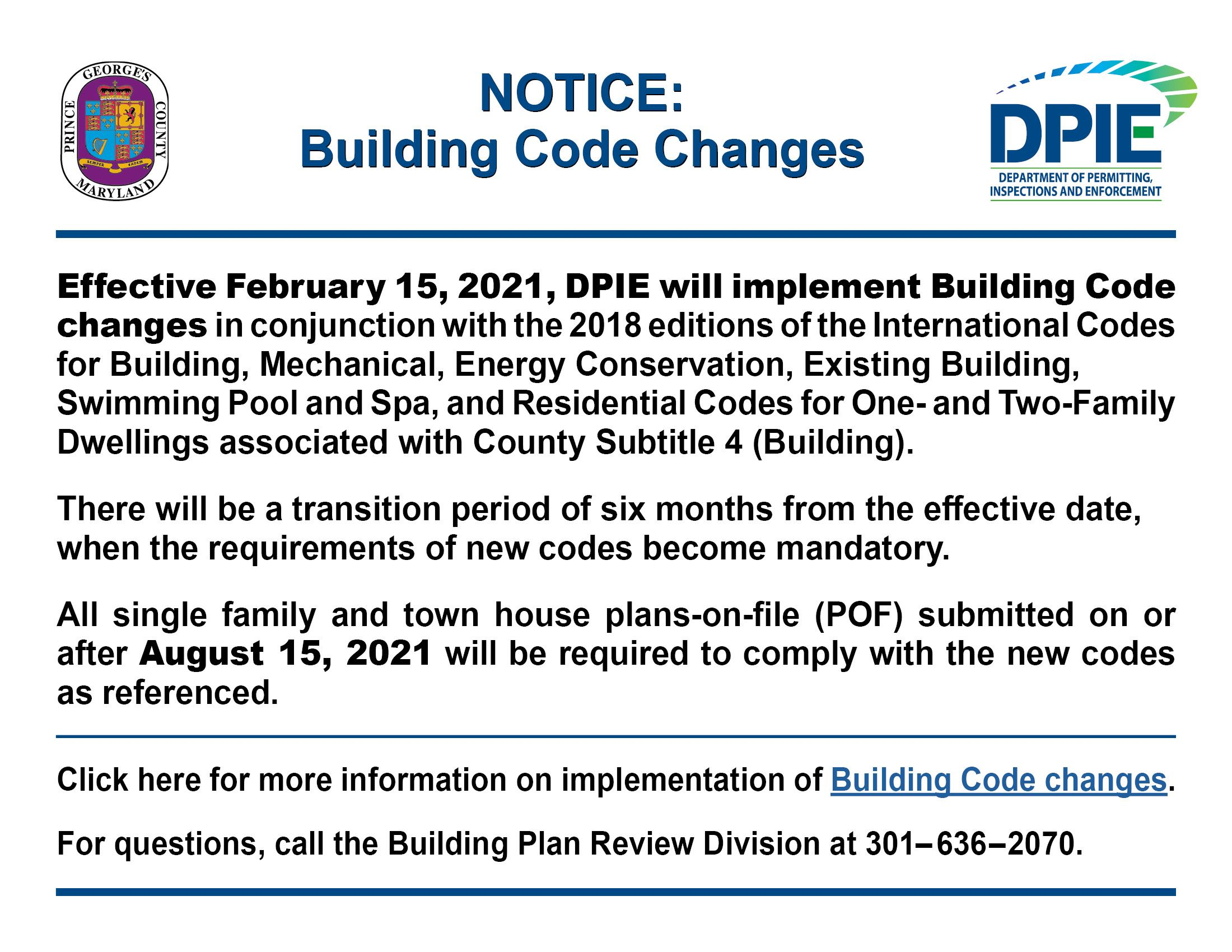Building Code Changes 2-15-21