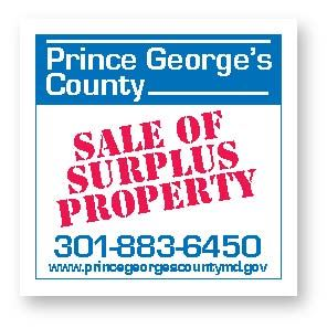 Prince George's County Sale of Surplus Property Sign