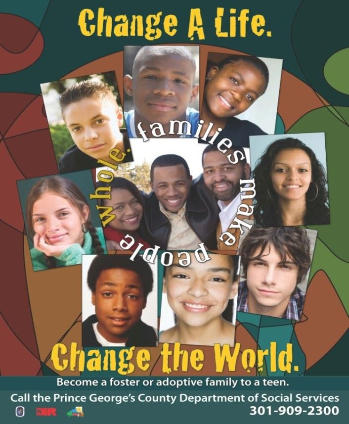 Change a Life. Change the World. Foster Program Logo