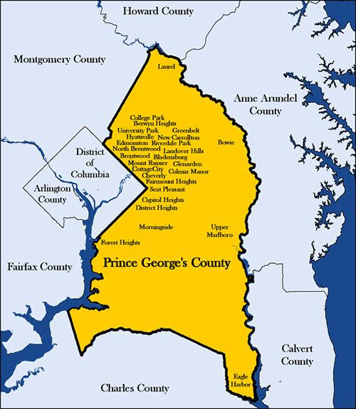 Prince Georges County Municipal Map