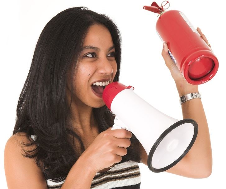 Woman With a Loud Speaker