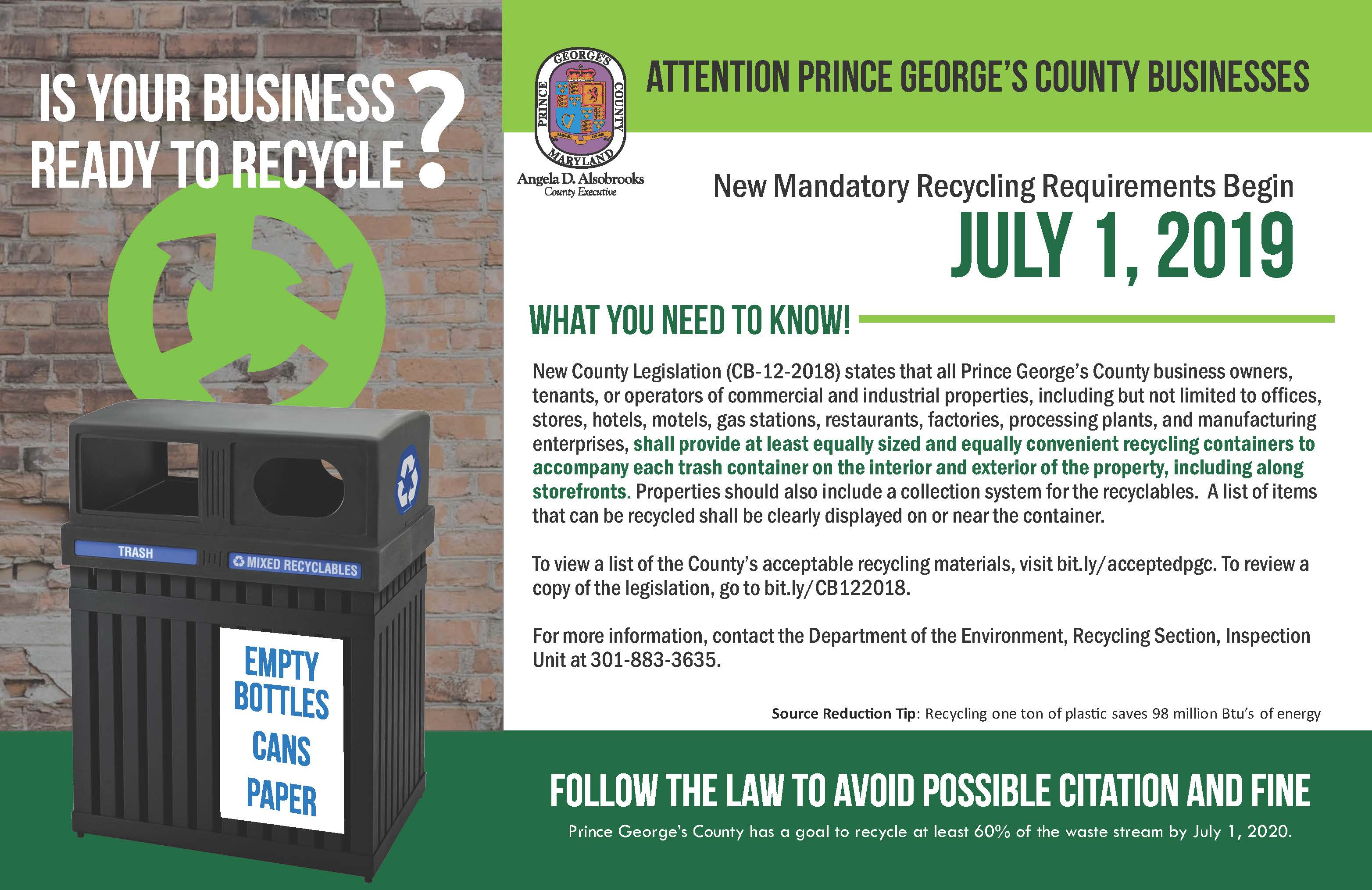 Business Recycling Law Effective 7.1.19 Page 1 Opens in new window