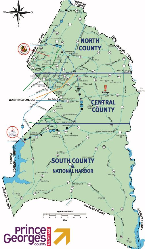 Map of Prince Georges County
